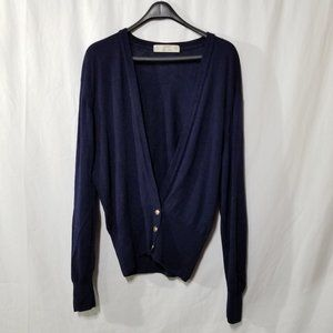 St Michael vintage blue wool cardigan with buttons